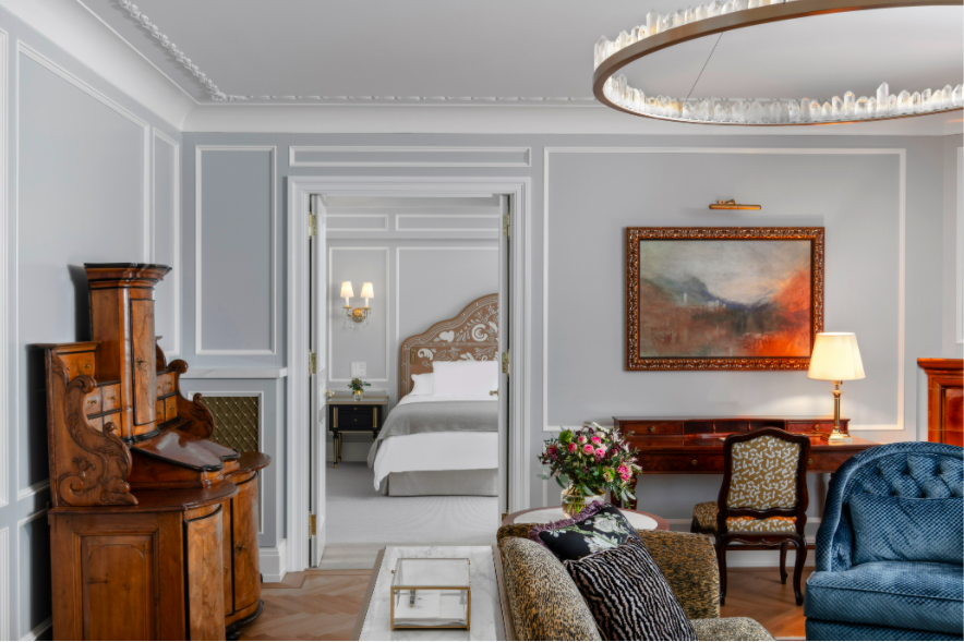 Champalimaud Design has recently completed work for historic Swiss hotel Badrutt's Palace.